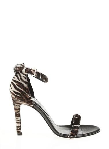 D by Divarese Topuklu Ayakkabı Zebra